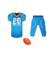 isolated football uniform vector image vector image