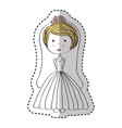 just married woman drawing vector image vector image