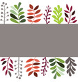 leaves set isolated on white background vector image vector image