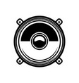 load speaker in engraving style design element vector image