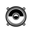 load speaker in engraving style design element vector image vector image