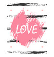 love word vertical greeting card love lettering vector image vector image