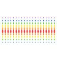 newborn shape halftone spectral grid vector image vector image