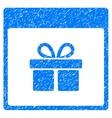 Present Box Calendar Page Grainy Texture Icon vector image vector image