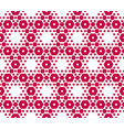 red and white hexagons geometric texture vector image