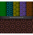 set of abstract seamless patterns vector image vector image