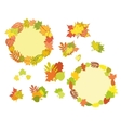 Set of hand drawn autumn vector image vector image