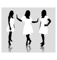 silhouette fashion girls vector image vector image
