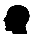 SIlhouette of a head vector image vector image