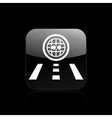 single navigate icon vector image vector image