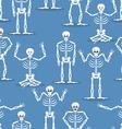 Skeleton background Bones and skull ornament vector image vector image