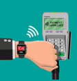 smart watch contactless payments vector image vector image