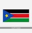 south sudan sudanese national country flag banner vector image vector image