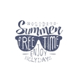 Summer Holidays Vintage Emblem With Shades vector image vector image