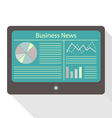 tablet business news vector image vector image