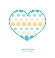 texture circles stripes abstract heart silhouette vector image vector image