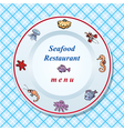 The seafood restaurant menu design vector image vector image