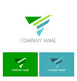 triangle arrow abstract logo vector image vector image