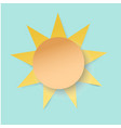 white paper cut sun 3d paper art style weather vector image vector image