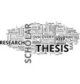 who is a successful scientist text word cloud vector image vector image