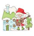 winter house song santa christmas vector image