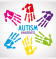 World autism day with handprints