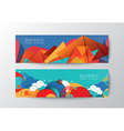 Abstract colorful polygon cloud banner design temp vector image