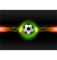 football electric dark green vector image