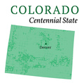 Colorado State Stylized Map vector image