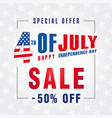 4 july independence day usa sale banner light vector image