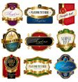 collection of golden ornate labels