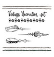 a set of hand drawn vintage elements for your vector image