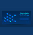 abstract blockchain isometric concept banner vector image vector image