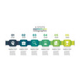 abstract ribbon timeline infographics template vector image vector image