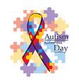 autism awareness day international organization vector image vector image