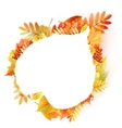 Autumn abstract floral background with copyspace vector image
