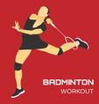 badminton sport flat vector image