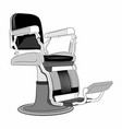 barbershop chair vector image vector image