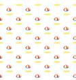 beach umbrella pattern vector image vector image