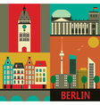 Berlin city vector image