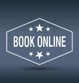 book online hexagonal white vintage retro style vector image vector image