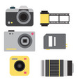 camera photo studio icons optic lenses vector image vector image