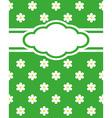 Card invitation daisy vector image