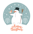 Christmas New Years card vector image vector image