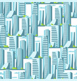 city skyscrapers seamless pattern in blue colors vector image