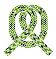 climbing rope knot symbol vector image vector image