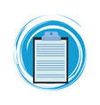 clipboard document symbol vector image vector image