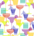 cocktail silhouettes seamless pattern vector image vector image