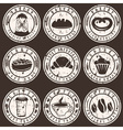 Collection of grunge vintage retro bakery and vector image vector image