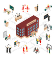 college university isometric infographics vector image vector image